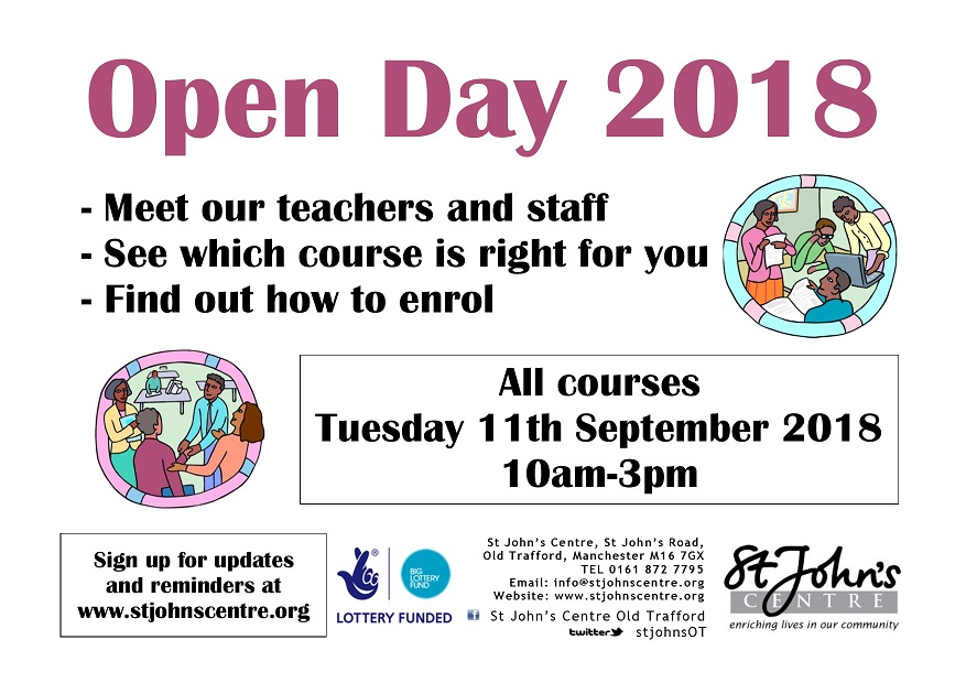 Open Day 2018 poster
